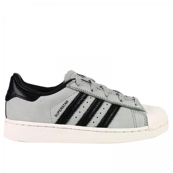 Scarpe bambino Adidas Originals Beige | Sneaker Superstar Fashion C Originals In Nubuck Con Rinforzo Sul Tallone | Scarpe Adidas By8884 - Giglio IT