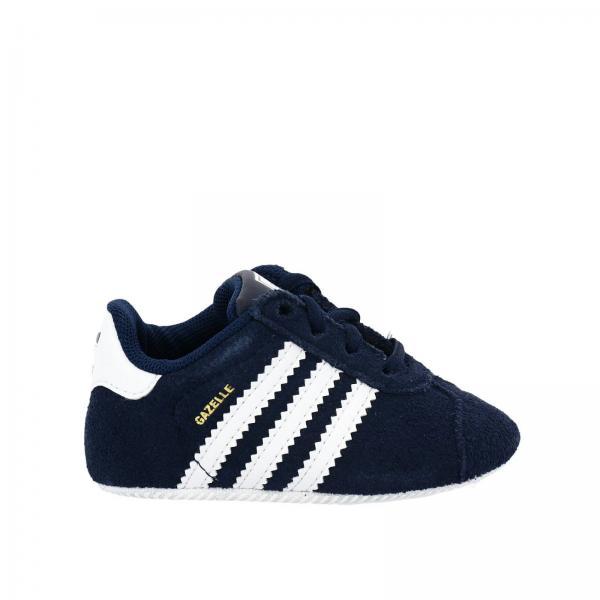 Scarpe neonato Adidas Originals Blue | Sneaker Gazelle Crib Originals In Camoscio Con Tre Fasce In Pelle | Scarpe Adidas By2379 - Giglio IT