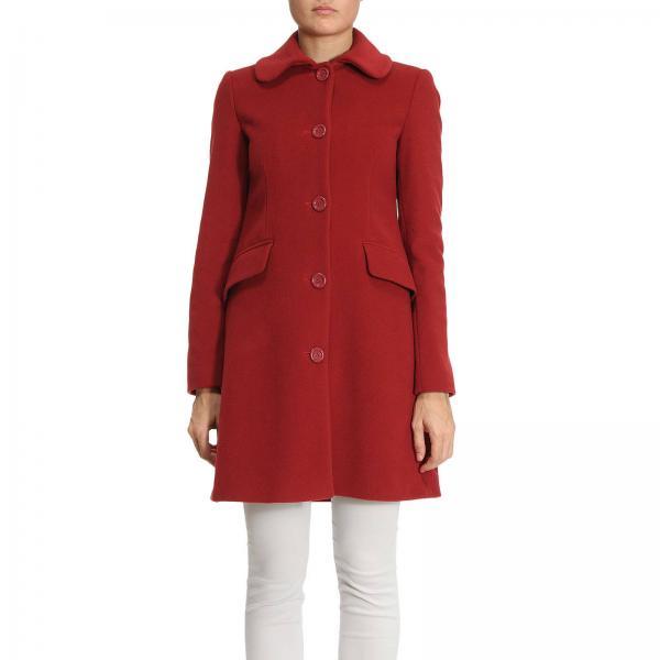 finest selection 837c6 2679b Cappotto in panno di misto lana con martingala a forma di cuori