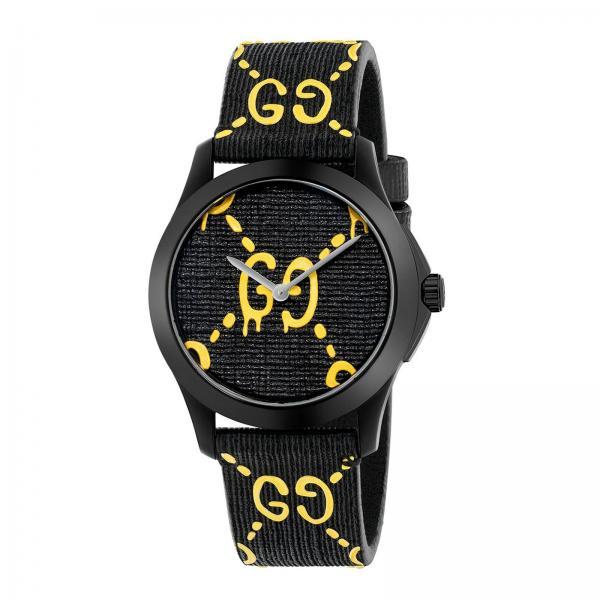Orologio G-Timeless cassa da 38 mm con monogramma a contrasto