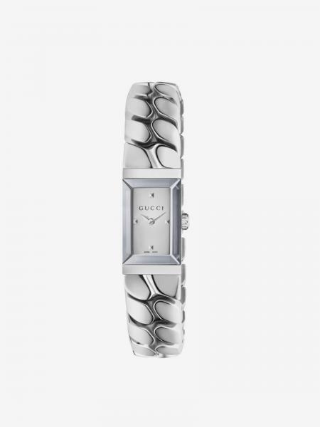 G Frame-Retyled Uhr aus Stahl mit gespiegeltem Zifferblatt
