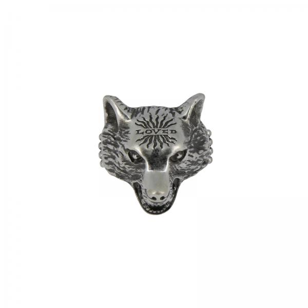 Anger Forest Wolfs Ring aus Sterlingsilber mit Aureco Finishing