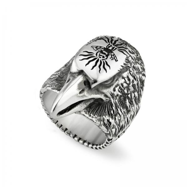 Anger Forest Adler Ring m aus Sterlingsilber mit Aureco Finishing