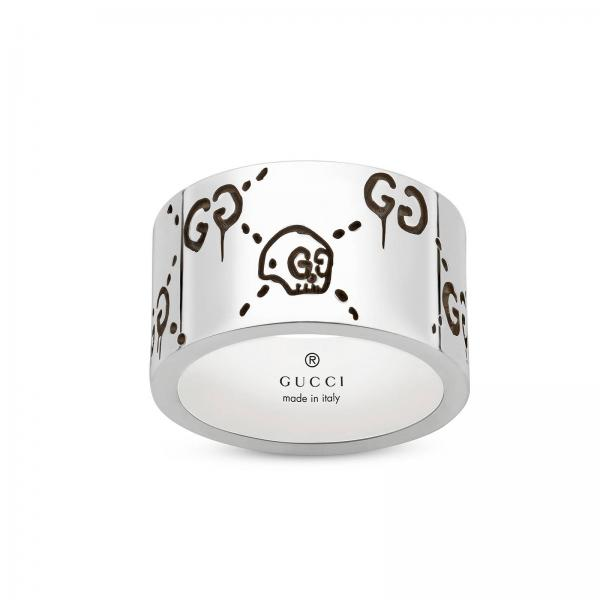 Gucci Ghost Ring 12 mm aus Sterlingsilber mit Aureco Finish