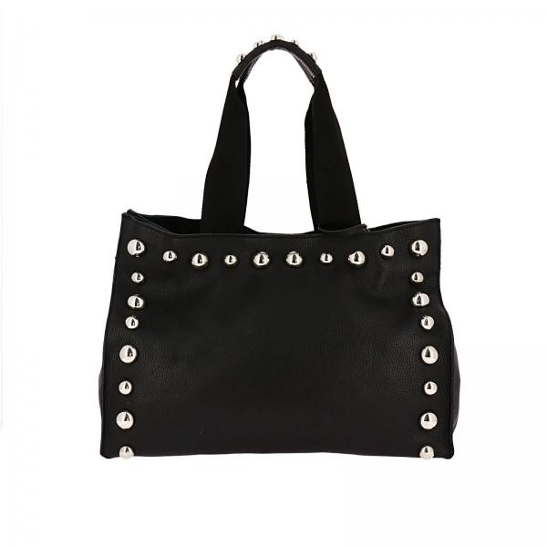 Vera Borchie In Borsa A Spalla Nero Donna Bag Luna 46Sq8