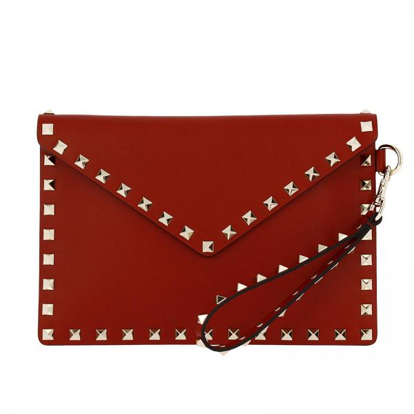 Valentino Garavani Women S Mini Bag Rockstud Spike Clutch In Genuine Leather With Detachable Wrist Strap Pw2p0p87 Bol