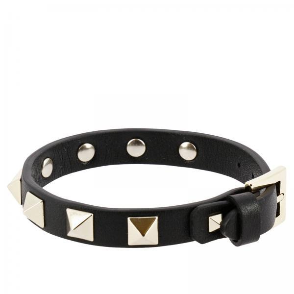 Valentino Garavani Women S Jewel Rockstud Bracelet With Maxi Metal Studs Pw2j0255 Vit Giglio En