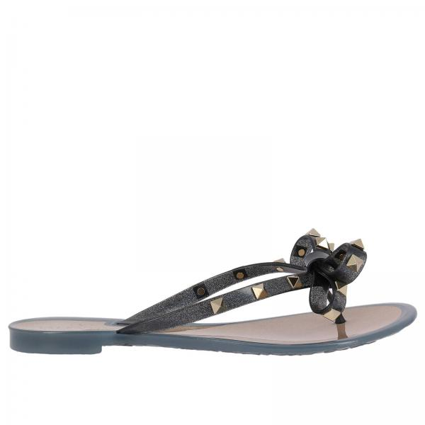 83ef8fc9ef5 Valentino Garavani Women s Blue Flat Sandals