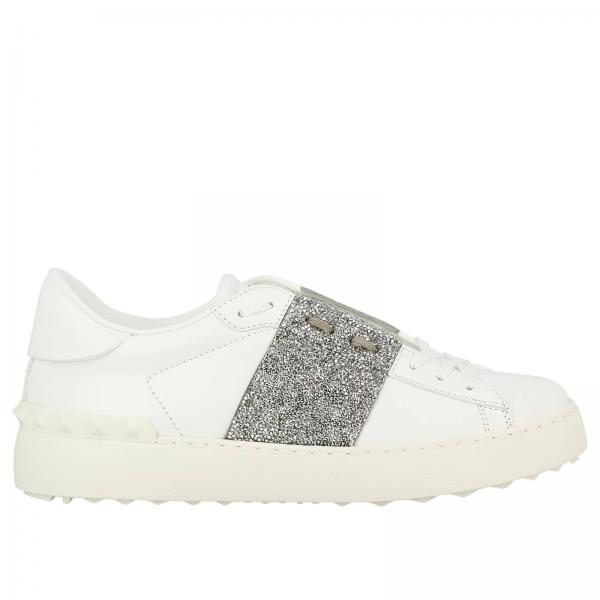 Eastbay Online Free Shipping Wide Range Of White and Silver Valentino Garavani Crystal Open Sneakers Valentino Shopping Online Free Shipping BNtnLp