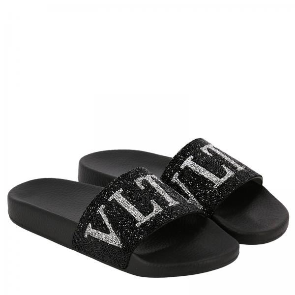 Slipper Crystal Gomma In Con Fascia Rock Logo KTFu1Jc3l