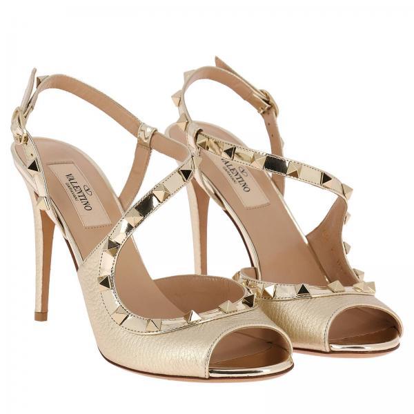 Valentino Artículo Garavani Pw0s0h05 Continuativo Mujer Gold Tacón De Rgcgiglio Sandalias xqZ7tt