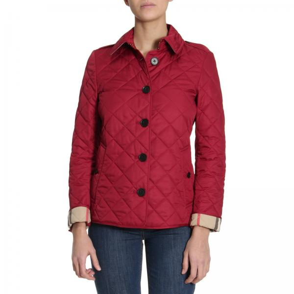 Veste burberry femme rouge