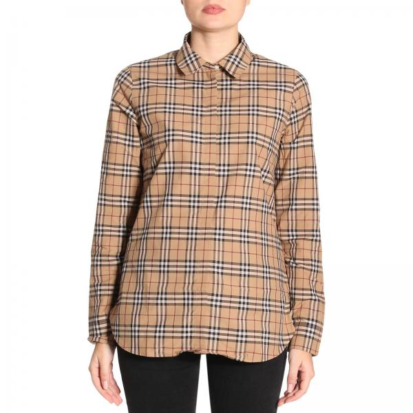 15b0d8a73ec Burberry Women s Beige Shirt   Shirt Women Burberry   Burberry Shirt ...
