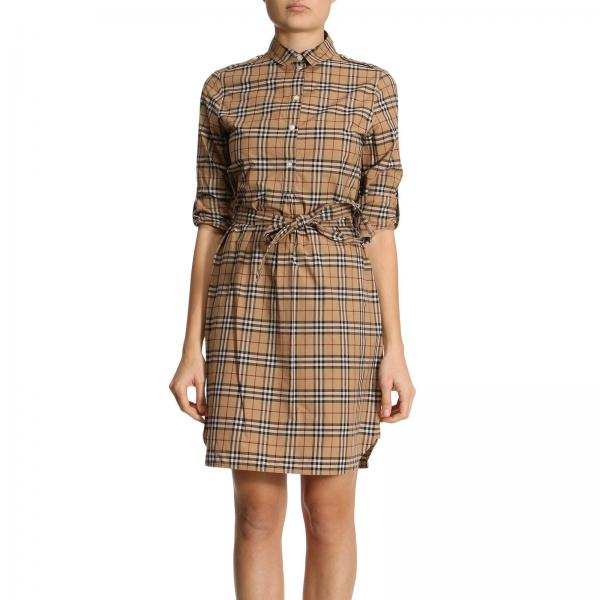 Burberry Women S Beige Dress Dress Women Burberry Burberry Dress