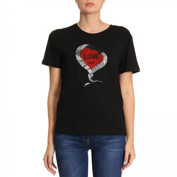 Con Stampa Laurent NeroA T Jersey 497236 Donna shirt 1974 Saint Girocollo Basic In Love Yb2mq Maxi PZuTiOkX