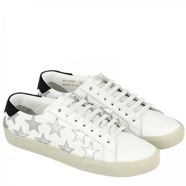 Zapatillas Mujer 0mp10giglio Laurent 419197 Saint Continuativo Blanco Artículo SSdFwrq