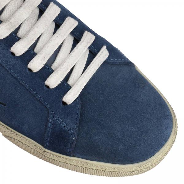 Con In Scamosciata Pelle Sneakers Logo Ricamo Classic Yfb6g7vy