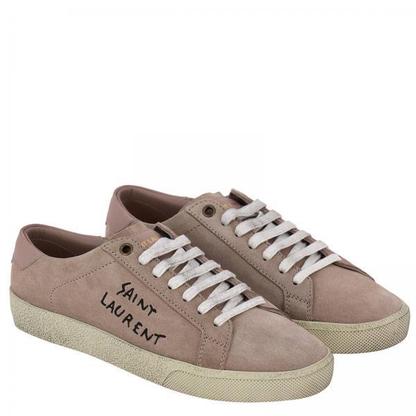 Classic Pelle Con Scamosciata In Ricamo Sneakers Logo dshtQrC