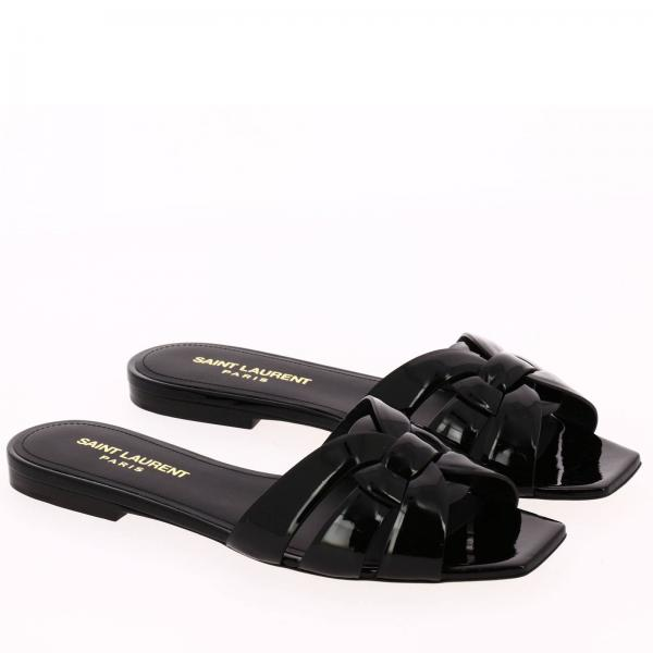 In Con Sandalo Cinturini Incrociati Slide Vernice hQdxtrCBso