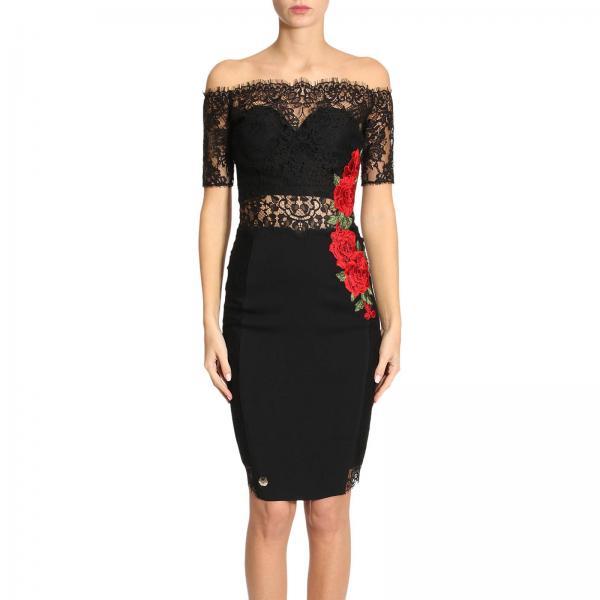 Philipp Plein Women S Black Dress Wrg0465 Pco050n Giglio En