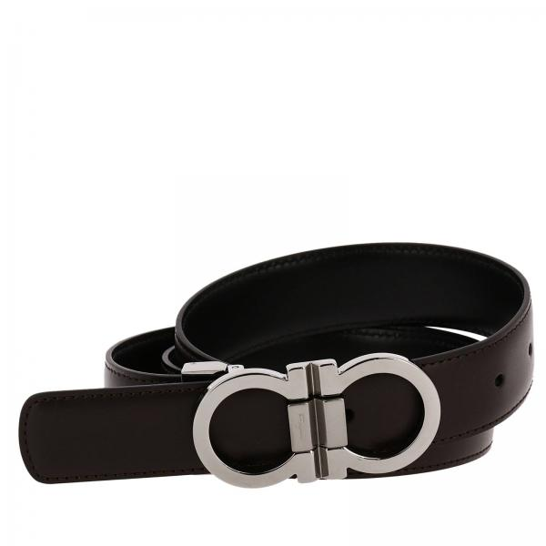 Ferragamo Belt White And Black