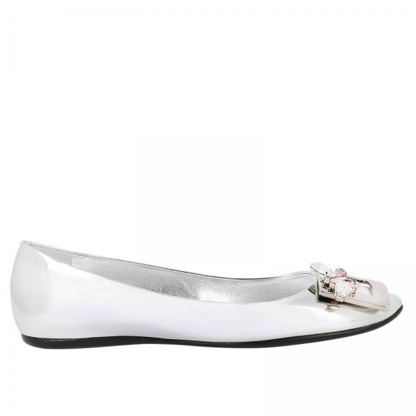d6c4d4931a1c Roger Vivier Women s Silver Ballet Flats