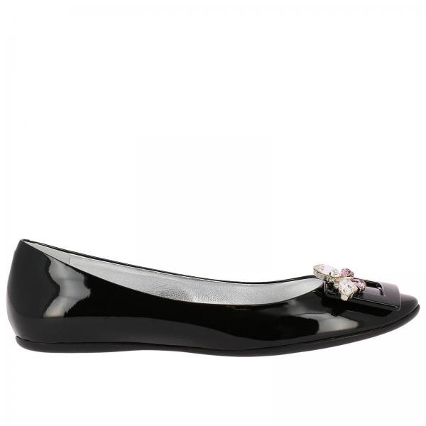 Roger Vivier Women s Black Ballet Flats  94634bd7fa