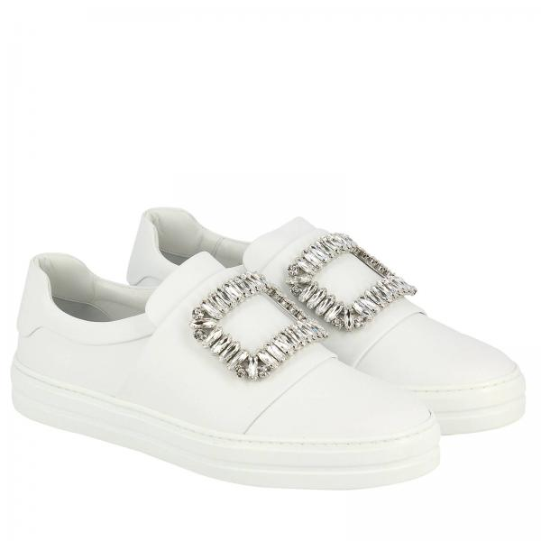 Strass In Sneaky Pelle Buckle Slip Viv' Sneakers On 2EHI9WDY
