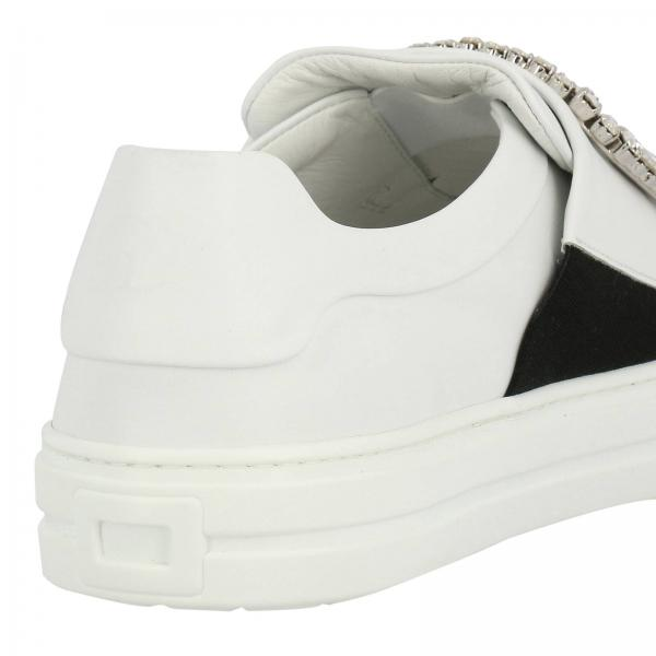 In Strass Slip On Buckle Pelle Viv' Sneakers Sneaky 9I2DEH
