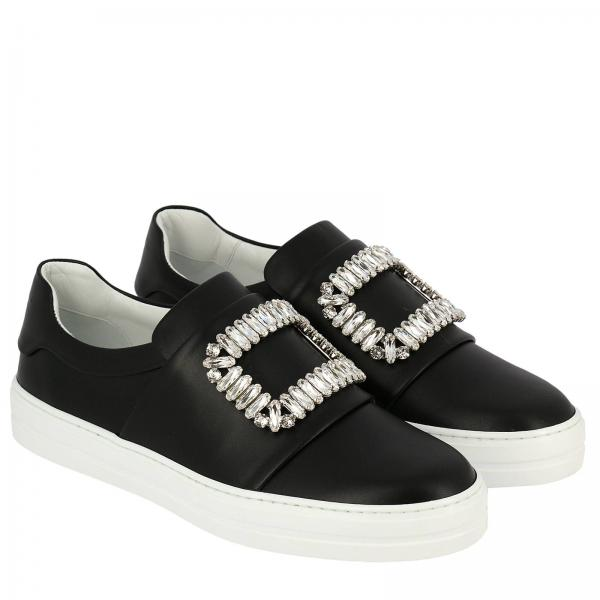 Pelle Viv' Sneaky In On Strass Buckle Slip Sneakers cKl1JF