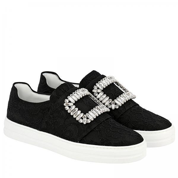 Sneakers Viv' Sneaky Buckle Slip Pizzo Strass On In 8nv0mNw