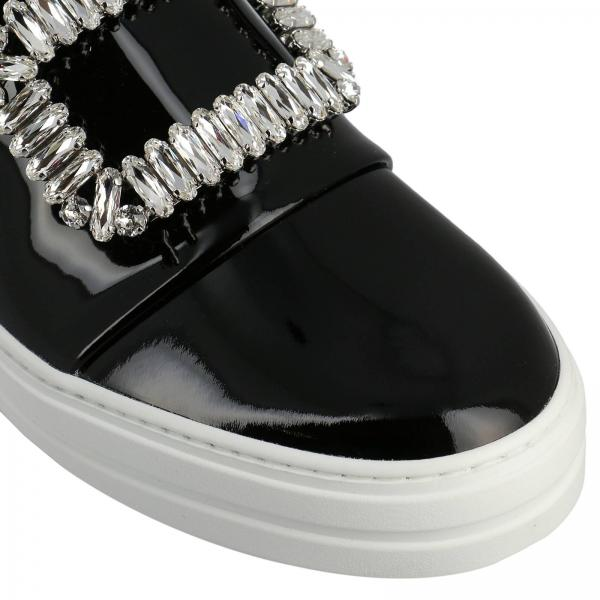 Slip Verniciata Pelle Strass Buckle Sneakers Viv' Sneaky In On drxoBWQCe