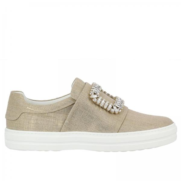 Sneakers Lurex Viv' Sneaky Strass Buckle In Canvas On Slip 4jLR35A