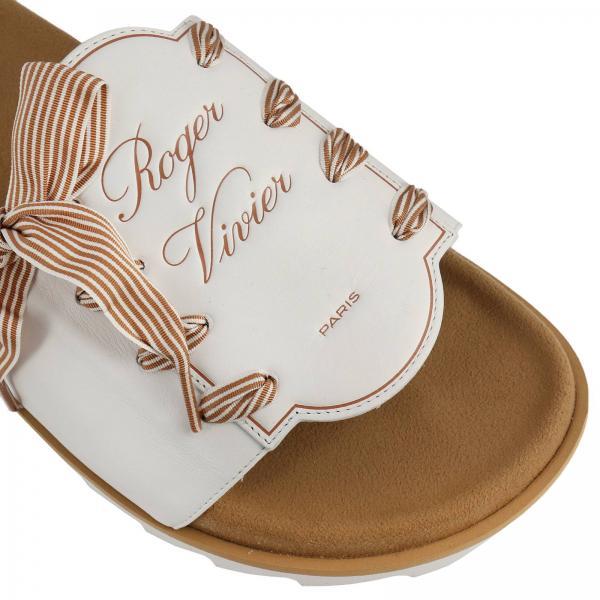 Sandalo Impresso Slidy Pelle Con Logo E Fiocco Viv' In Etiquette OZN8wPXn0k