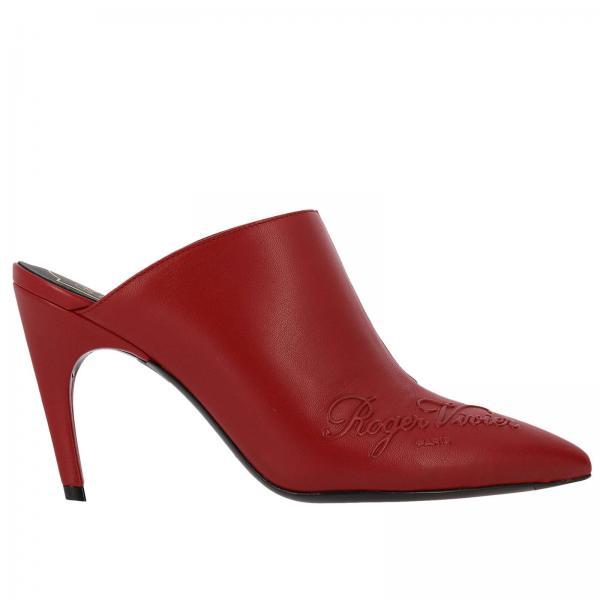 91tgiglio Zapatos Vivier Rojo Mujer Artículo Roger Rvw48321850 Tacón Continuativo De 6Irx60