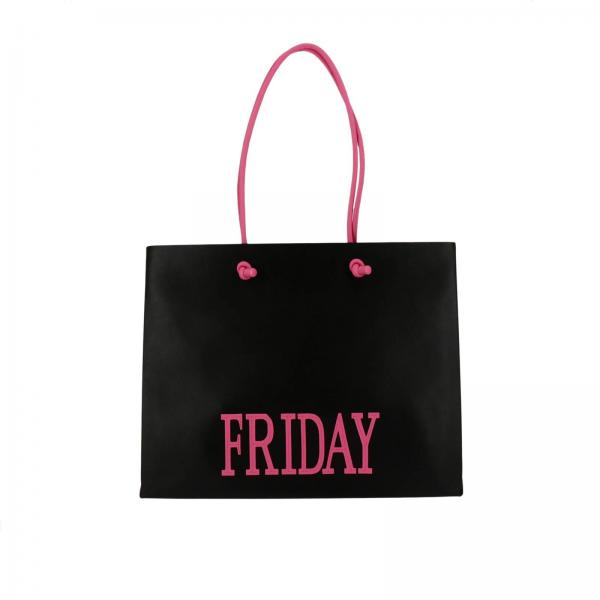 Borsa shopping large in pelle con maxi scritta rainbow week friday. €  860,00. Borsa A Spalla Donna Alberta Ferretti