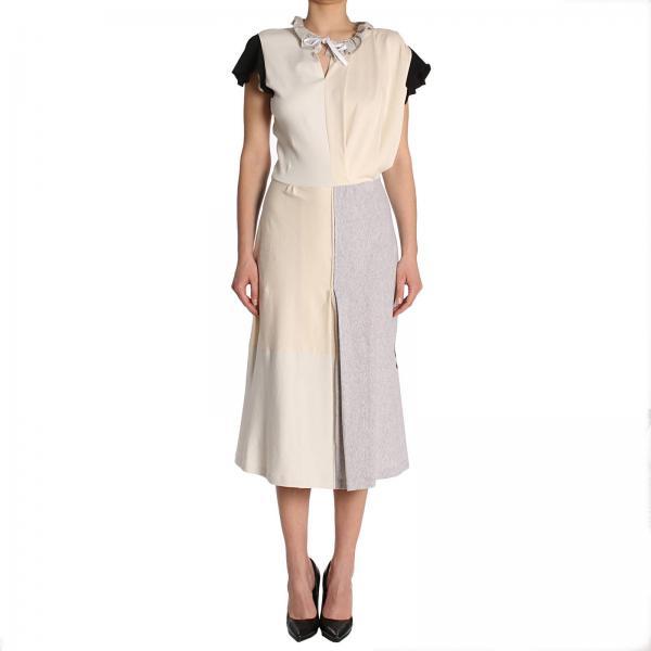 Balenciaga Women s Yellow Cream Dress  d92387c8e1