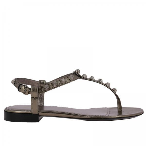 c960e1406ab7 Women Women s Silver Flat Balenciaga SandalsShoes Balenciaga hxQrCtds
