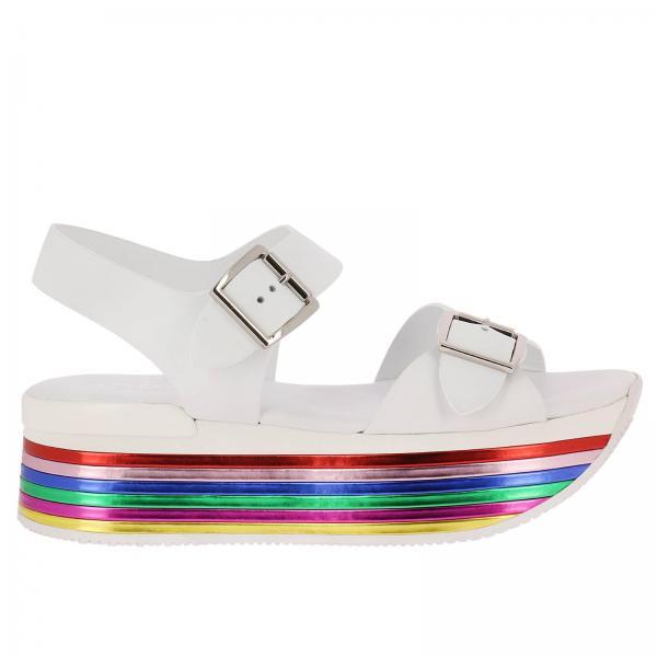 meilleure sélection 300cc dfd09 Chaussures compensées Femme Hogan Blanc   Chaussures Femme ...