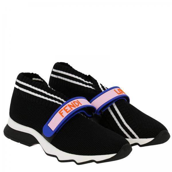 Fibbia Rockoko Calzino A Maxi Con Strappo Fendi Sneakers Nn8v0wm