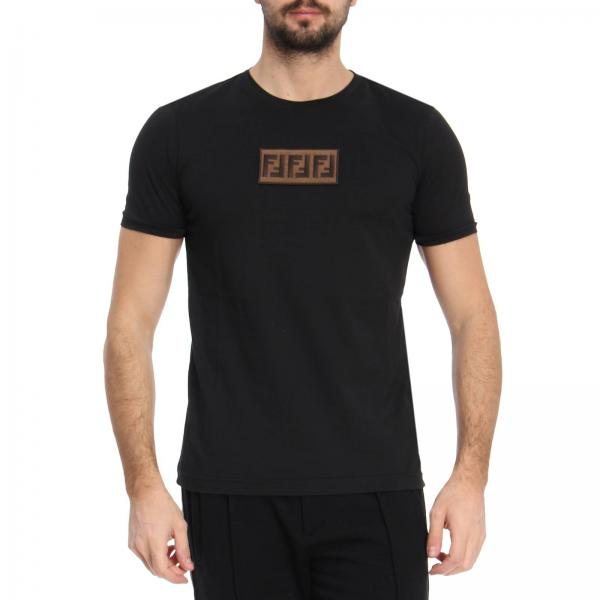 Fendi Men s Black T-shirt  ddcdd79919c40