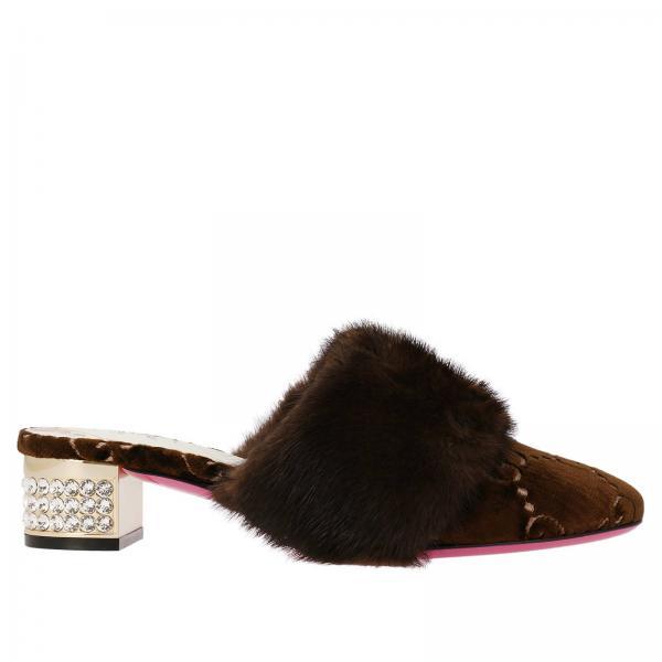 a361bb48b9ba93 Chaussures à talons Femme Gucci Marron   Chaussures Femme Gucci ...