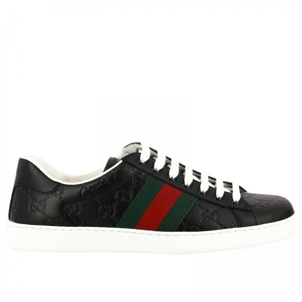 Gucci Men S Black Sneakers Shoes Men Gucci Gucci Sneakers 386750 Cwcg0 Giglio En