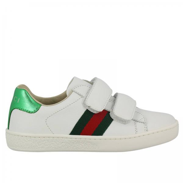 Chaussures garçon Gucci Blanc   Chaussures Enfant Gucci   Chaussures Gucci  455448 Cpwp0 - Giglio FR 79ff462f001