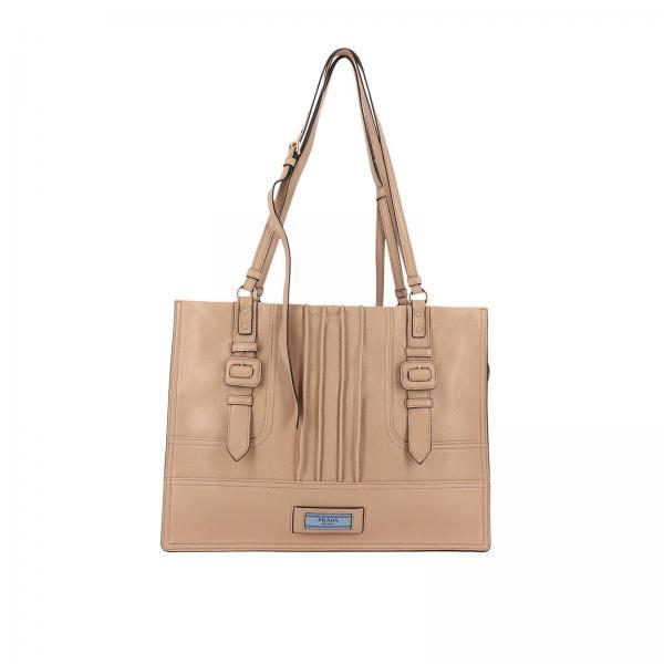 Borsa a spalla Donna Prada | Borsa Shopping Etiquette In Pelle Con Multi  Fibbie | Borsa A Spalla Prada 1bg142 2ebp - Giglio IT