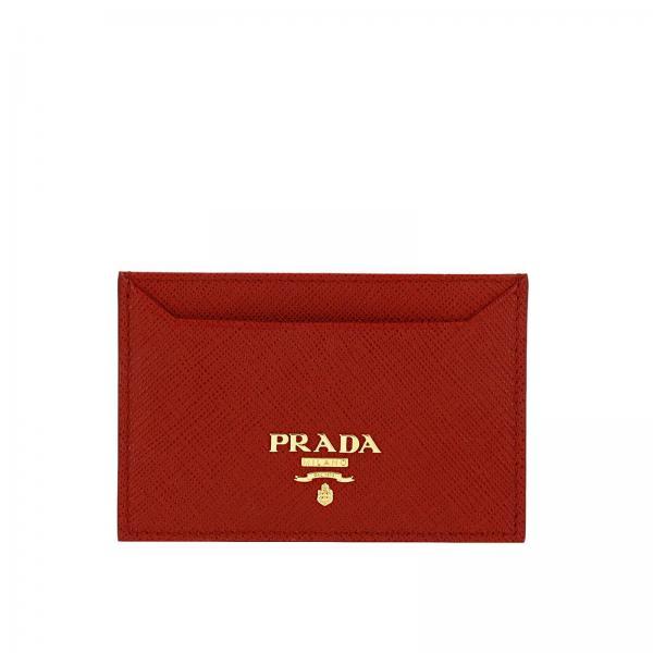 selezione premium 8ca5e ece89 Porta carte di credito in vera pelle saffiano con logo metal