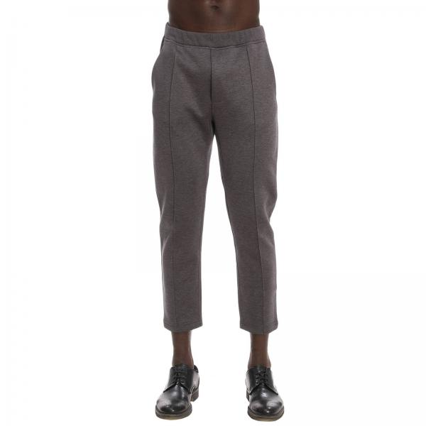 Survêtement Homme Prada Fusain   Pantalon Jogging En Coton Avec ... 8253052a1ea