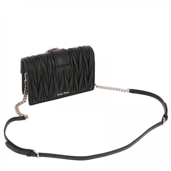 Pelle N88 In Maxi Donna Borsa Mini Lock Matelassè Con Gioiello 5bh077 MiuBandoliera Soft T1c3KlFJ