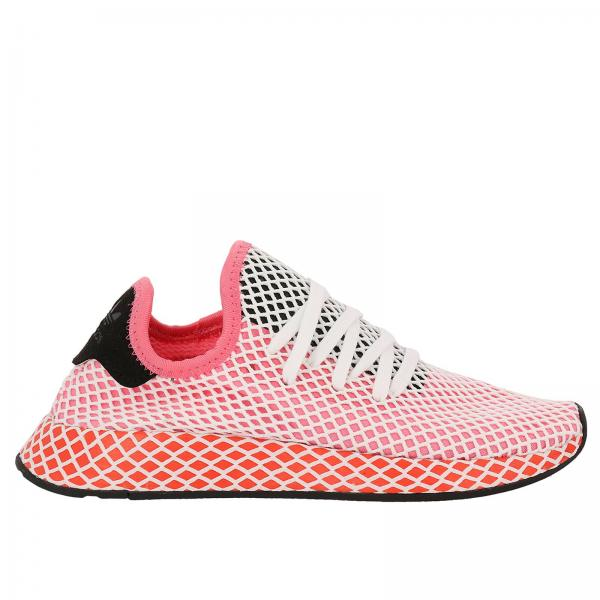 Baskets Femme Adidas Originals Rose | Baskets Deerupt Runner W Originals En Knite Et Mesh Stretch Effet Filet | Baskets Adidas Cq2910 - Giglio FR