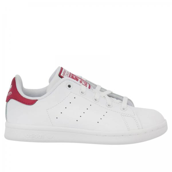 Adidas Chaussures Garçon Baskets Stan Originals C Smith Blanc BxT5Fwx